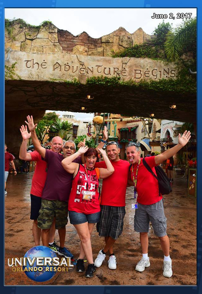 Fan submitted photo from their fun day at Islands of Adventure.